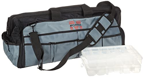 Morris Products 53516 Large Easy Search Tool Bag with Plastic Tray, 24 Length, 8.5 Width, 13 Height, 59 Total – 20 inside, 39 outside Pockets