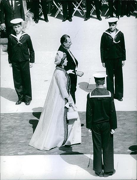 Vintage photo de Juan Carlos I de España con su esposa la princesa Sofía de Grecia y Dinamarca, hija del rey Paul de Grecia.: Amazon.es: Hogar