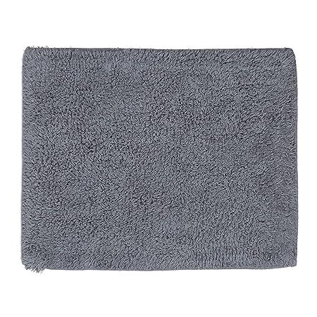 Gris 40 x 50 cm Relaxdays Alfombra Ba/ño Antideslizante Microfibra