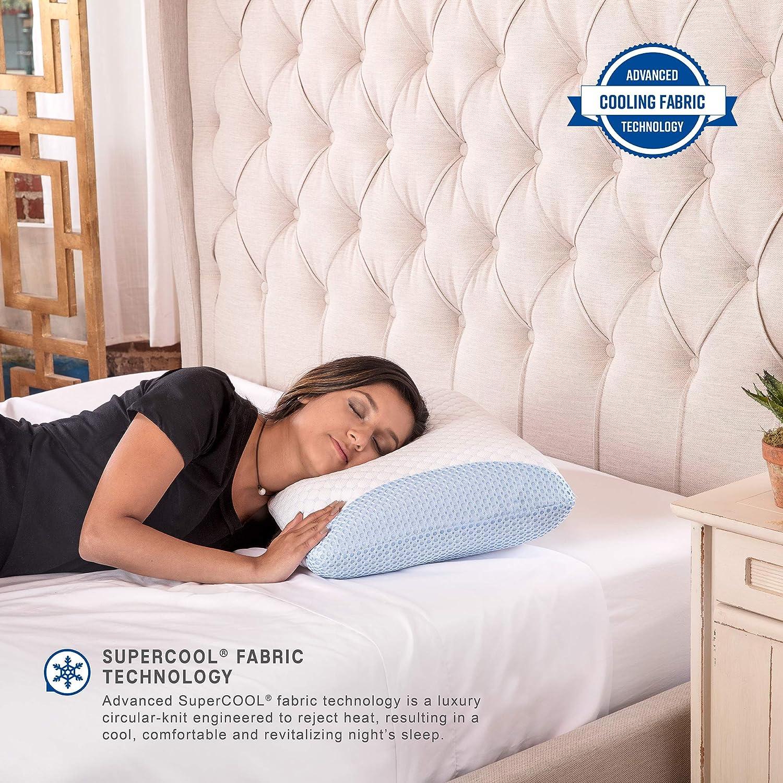 SensorPEDIC Supercool Gel-Infused Memory Foam Bed Pillow, Oversized, White