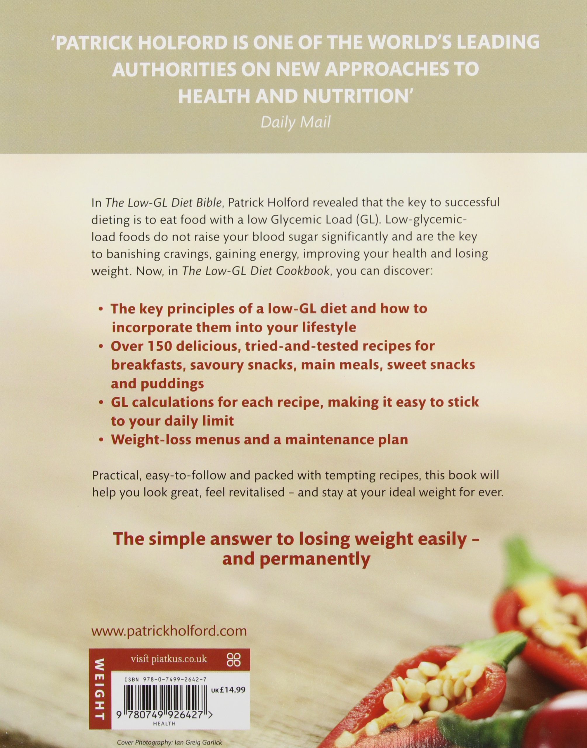 The Low Gl Diet Cookbook Easy Recipes For Weight Loss Health Found This One To Be Easiest Follow And Energy Patrick Holford Bsc Dipion Fbant Ntcrp Fiona Mcdonald Joyce