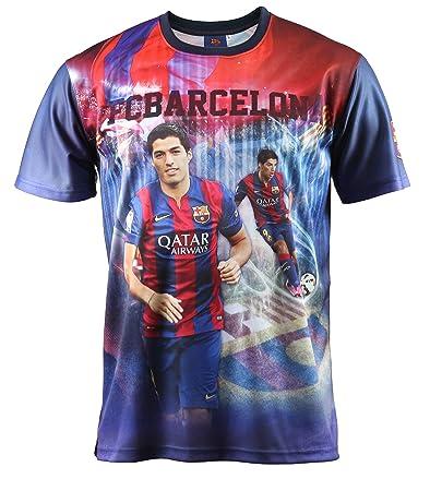 Conjunto Camiseta + Short Luis Suarez FC Barcelona - - Colección Oficial FC Barcelona - Talla de Niño, Azul (Azul), 4 ANS: Amazon.es: Zapatos y complementos
