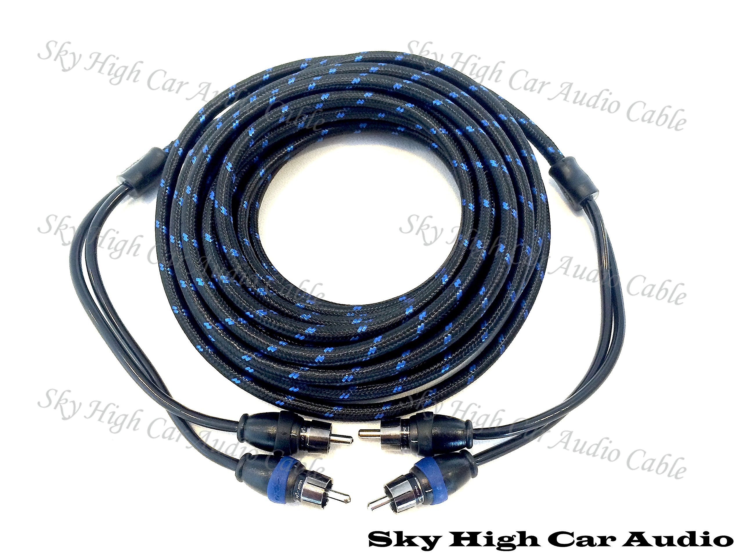Sky High Car Audio 2 Channel 6 ft RCA Cables Triple Shield Nylon Coated