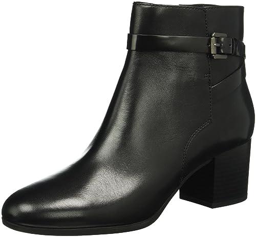 Geox D PETALUS C, Botines para Mujer, Schwarz (BLACKC9999), 36.5 EU: Amazon.es: Zapatos y complementos