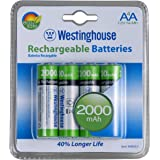 (4 pack) Westinghouse AA NI-MH 2000MAH Rechargeable Batteries