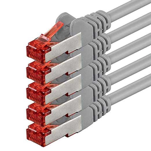 29 opinioni per 5m- grigio- 5 pezzi- Rete Cavi Cat6   S-FTP   CAT 6   doppia schermatura   PIMF