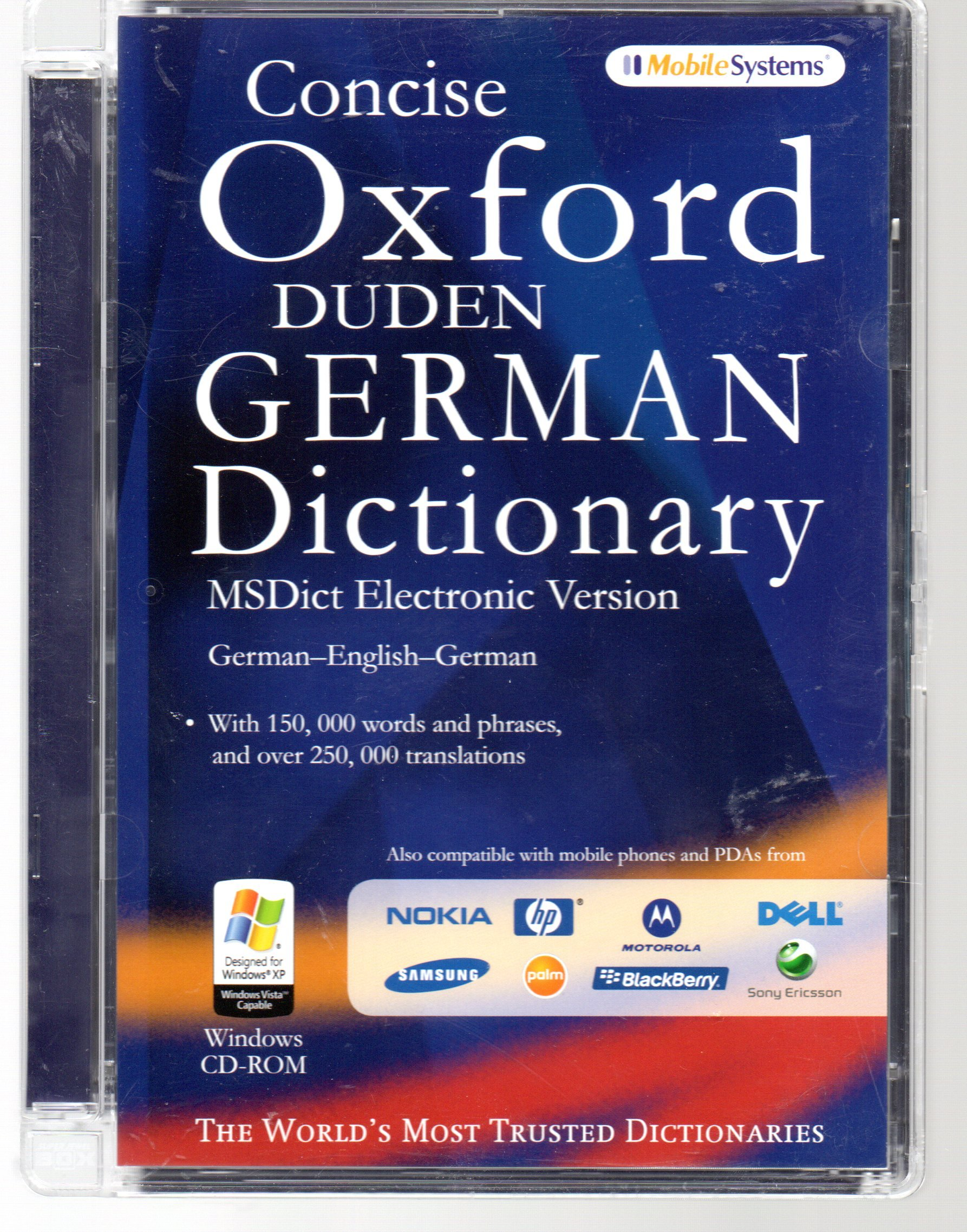 MSDict Concise Oxford Duden German Dictionary (Ms Dict Electronic Version):  Amazon.co.uk: 9780979745744: Books