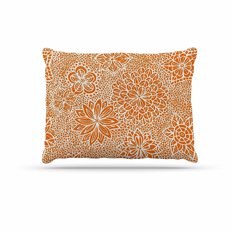 KESS InHouse Julia Grifol Garden Flowers orange Floral Dog Bed, 30  x 40
