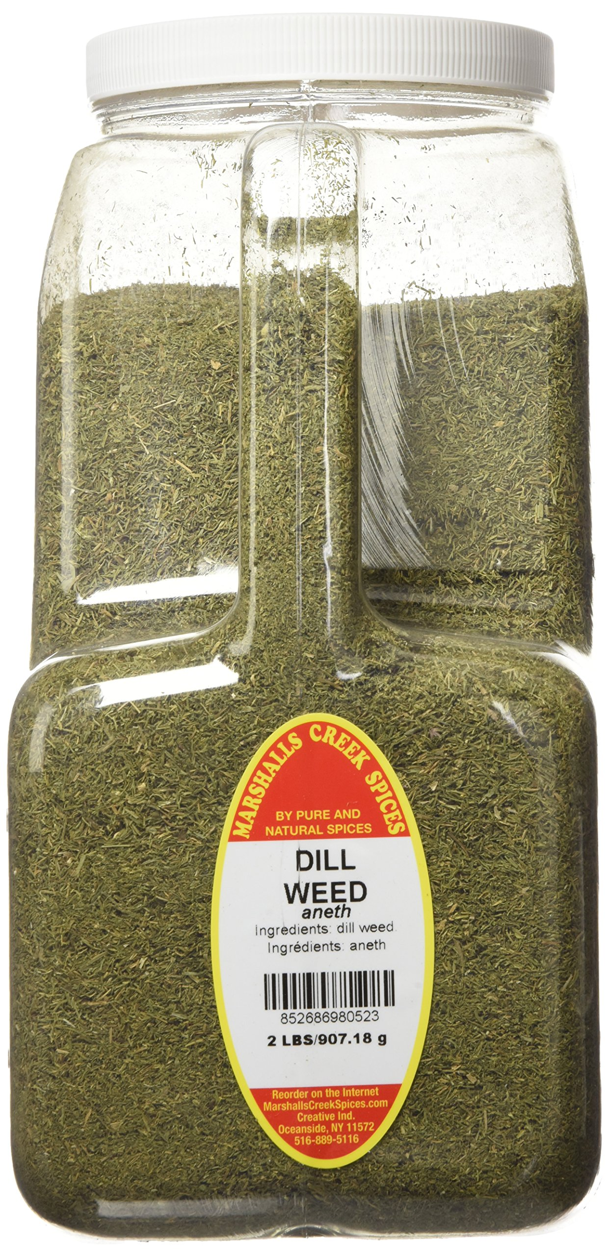 Marshalls Creek Spices XXL Restaurant Size Spice Jug, Dill Weed, 2 Pound