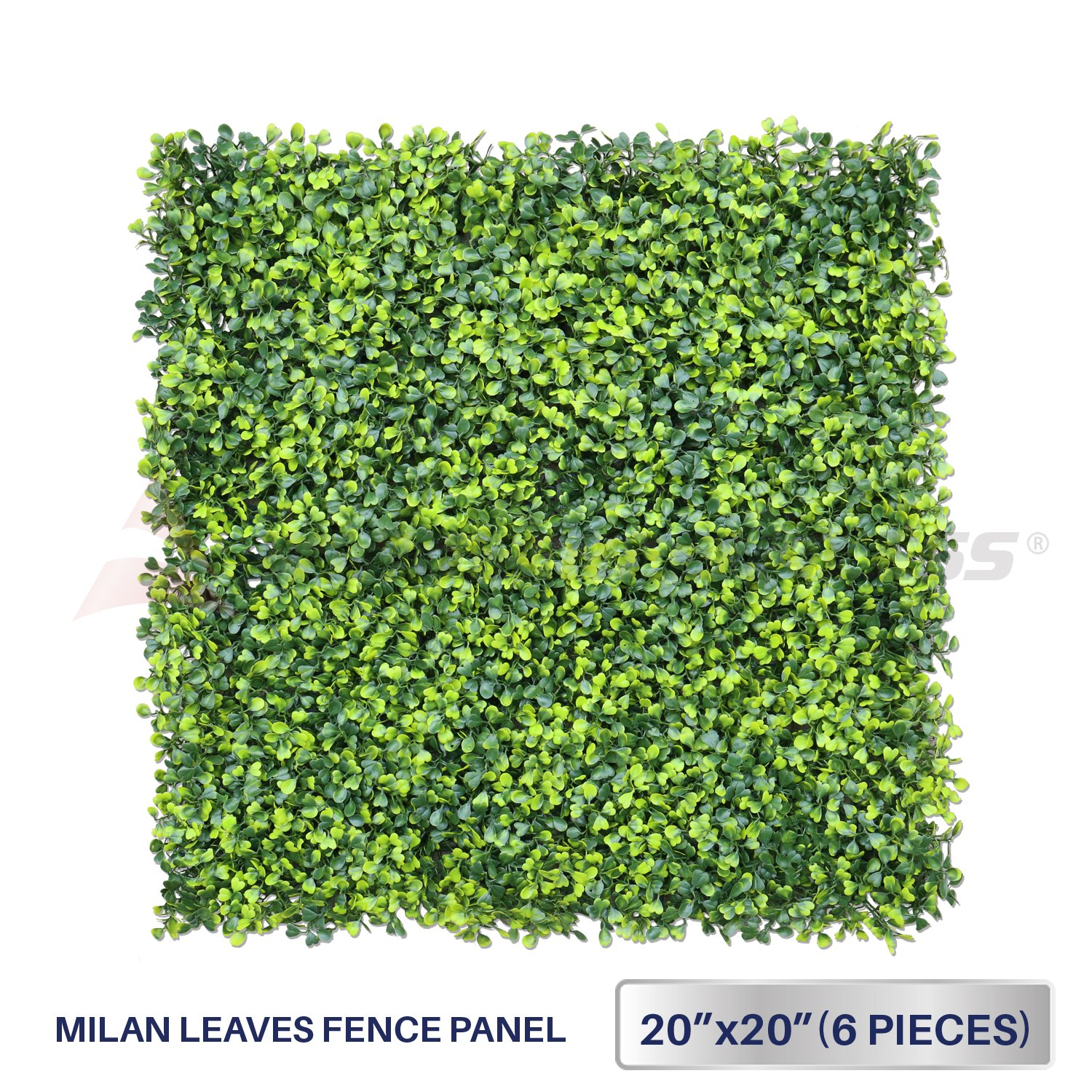Windscreen4less Artificial Faux Ivy Leaf Decorative Fence Screen 20'' x 20'' Boxwood/Milan Leaves Fence Patio Panel 6 Pcs