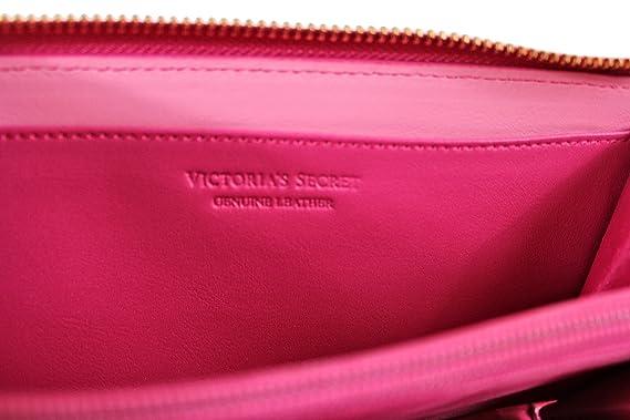 Amazon.com: Victoria s Secret Piel Auténtica cartera, Rosa ...
