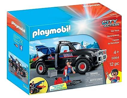 Verbazingwekkend Amazon.com: PLAYMOBIL Tow Truck Playset: Toys & Games QN-53