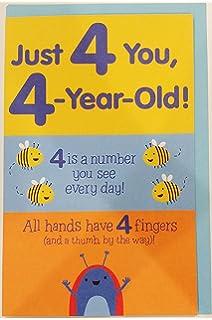 Amazon duck dynasty redneck logic birthday greeting card just 4 you 4 year old happy 4th birthday greeting card fourth four bookmarktalkfo Choice Image