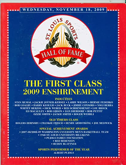 2009 St  Louis Sports Hall of Fame Induction Program (48