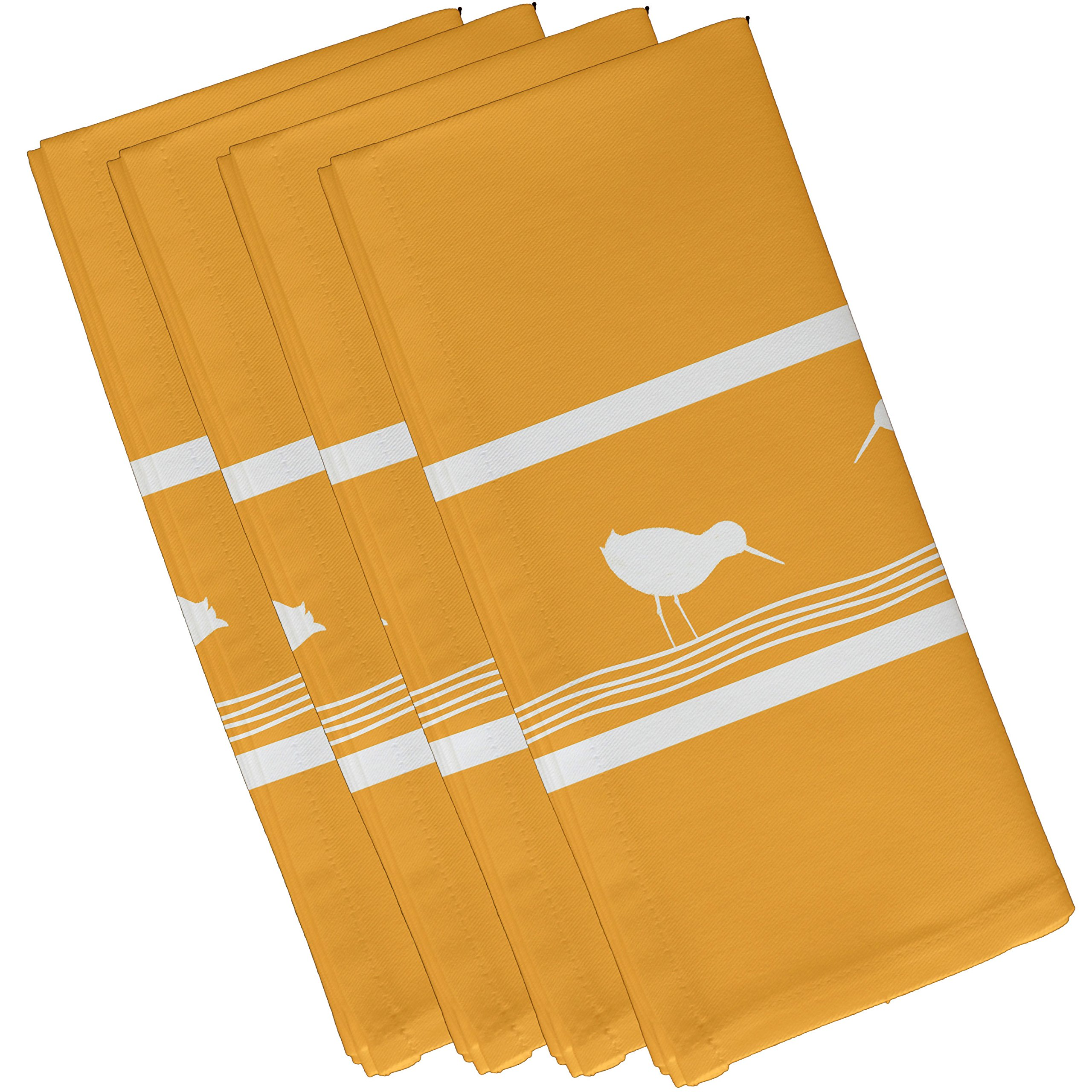 E by design Birdwalk, Animal Print Napkin, 19 x 19'', Yellow