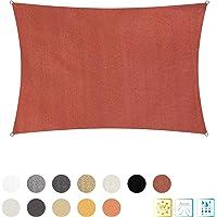 Lumaland toldo Vela de Sombra 100% Polietileno de Alta Densidad Filtro UV Incl Cuerdas Nylon 2x3m Terracotta