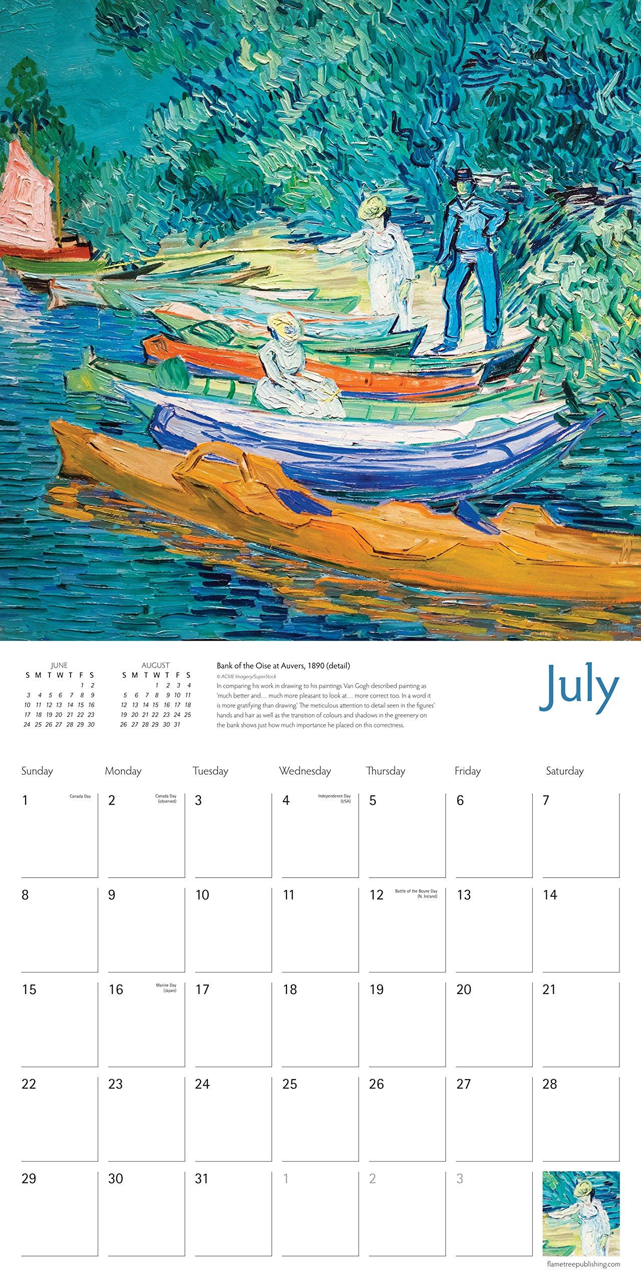 Vincent Van Gogh Wall Calendar 2018 (Art Calendar): Amazon.co.uk: Vincent  Van Gogh: 9781786642943: Books