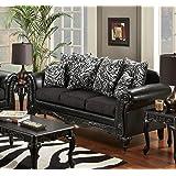 Chelsea Home Furniture Lolita Sofa, Bi-Cast Ebony/Jericho/Total Package