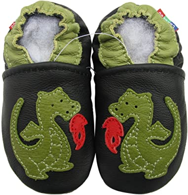 Amazon.com: Carozoo shoeszoo Fire Dragon suave suela de piel ...