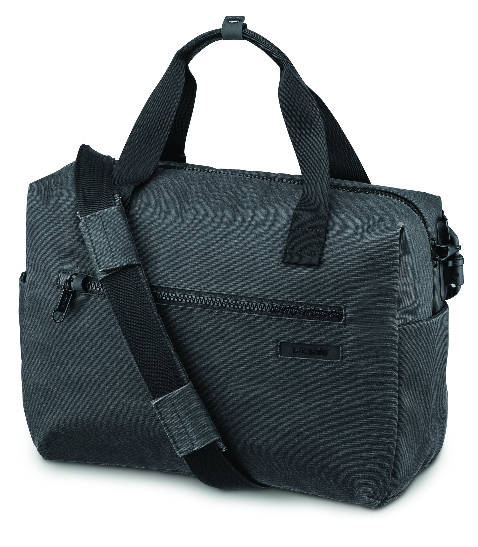 Pacsafe Intasafe Z400 Deluxe Anti-Theft Laptop Shoulder Bag, Charcoal by Pacsafe