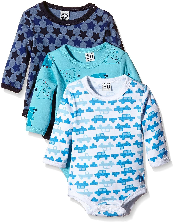 Care Baby Boys Bodysuit, Longsleeve, 3-Pack 4132