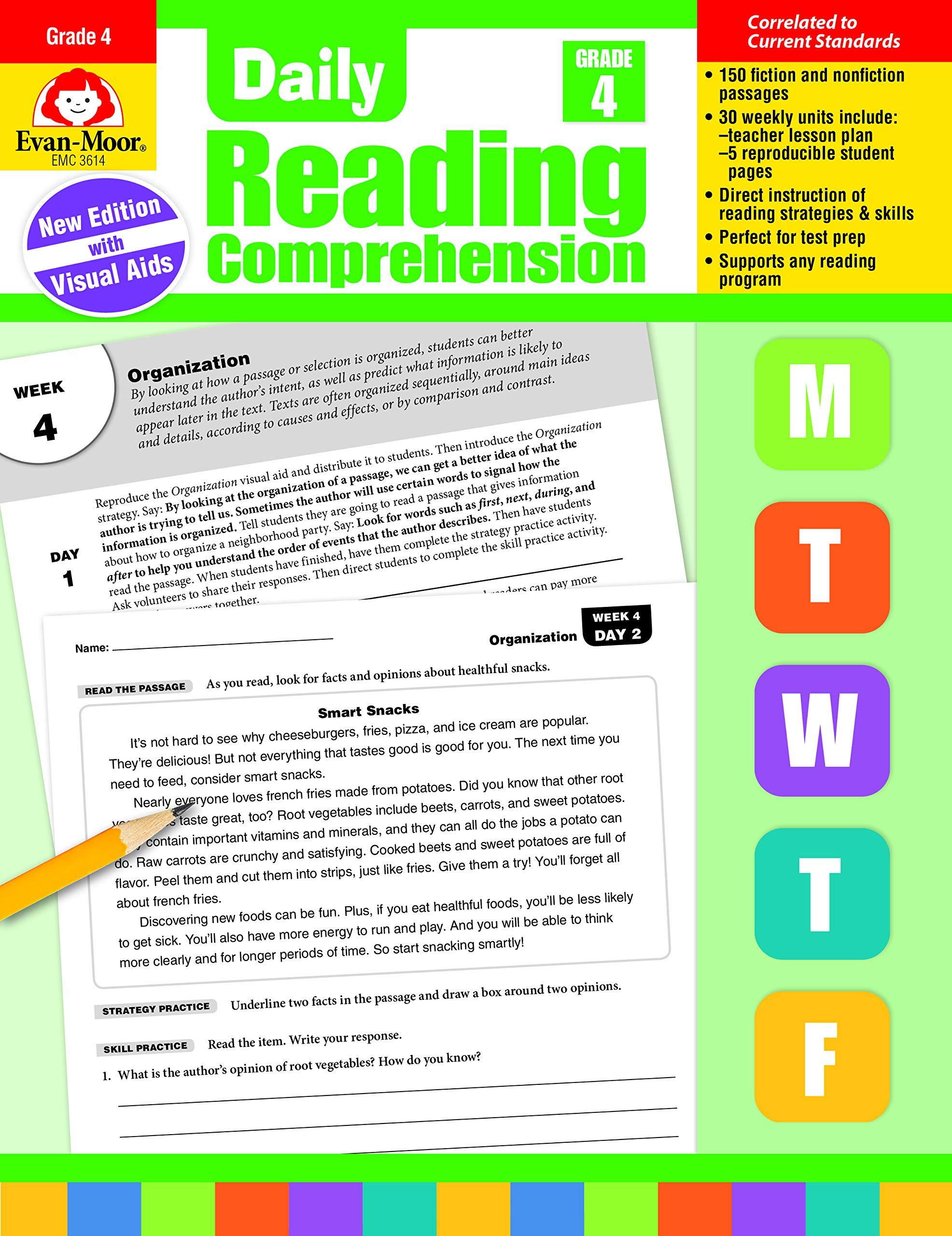 - Amazon.com: Daily Reading Comprehension, Grade 4 (9781629384771
