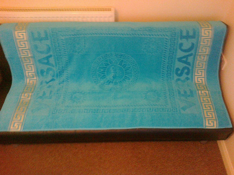 d98baa0c843 Versace style bleu Deluxe Serviette de plage de visage mains de bain 100%  coton  Amazon.fr  Luminaires et Eclairage