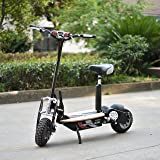 Renegade 1000W Powerboard 36V Rechargeable Electric Scooter with Wooden Deck, Disc Brakes, Foladable Handlebars - Black