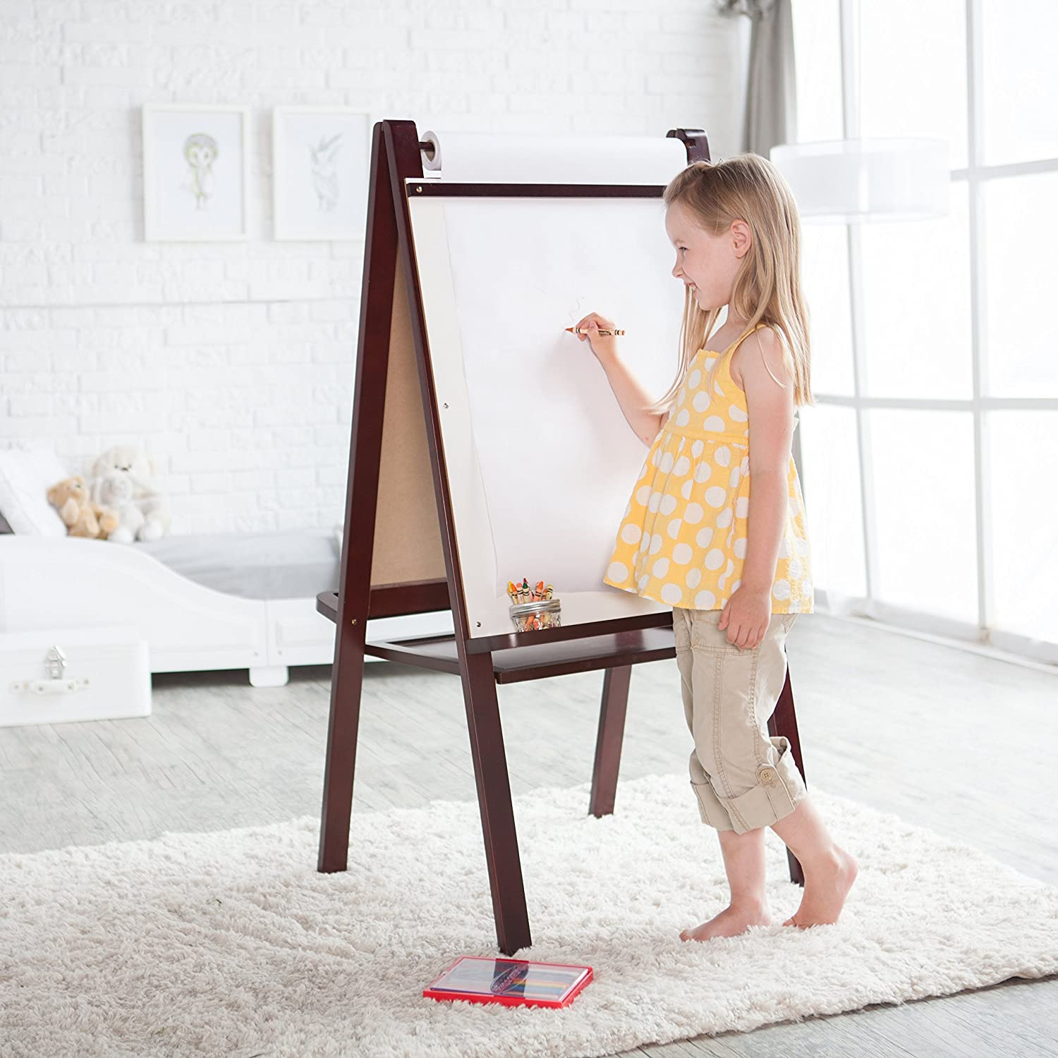 Painting Paper 18 inch by 200 FEET Drawing Paper Perfect for Wall Art Kraft Art /& Construction Paper Made in USA Paper Roll for Kids Easel /& Wrapping Paper White Arts and Crafts Paper Roll