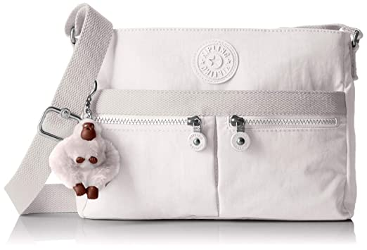 c2c02f20918 Kipling Women's Angie Crossbody Bag, Adjustable Shoulder Strap, Zip  Closure, Alabaster Tonal