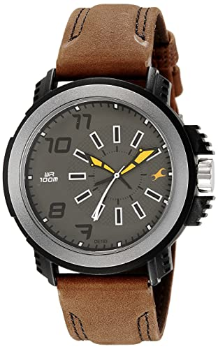 3. Fastrack Analog Grey Dial Men's Watch-NK38015PL03