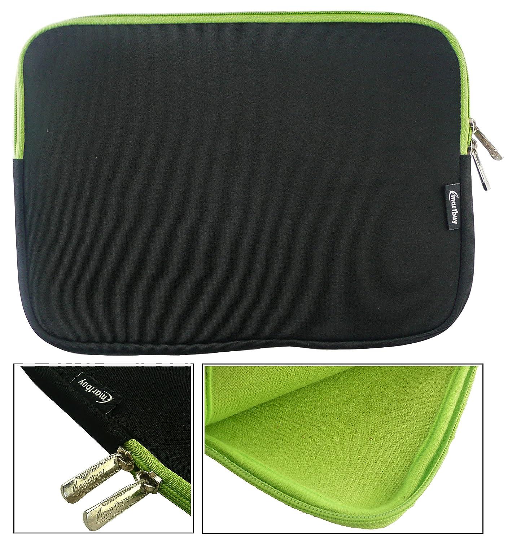 Emartbuy Black Water Resistant Neoprene Soft Zip Case Cover suitable for HP ZBook Studio G3 Laptop 15.6 Inch 15-16 Inch Laptop//Notebook