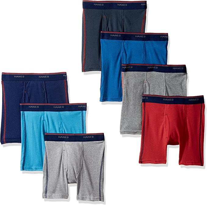 Hanes Toddler Boys Printed Boxer Briefs with Comfort Flex/® Waistband 5-Pack