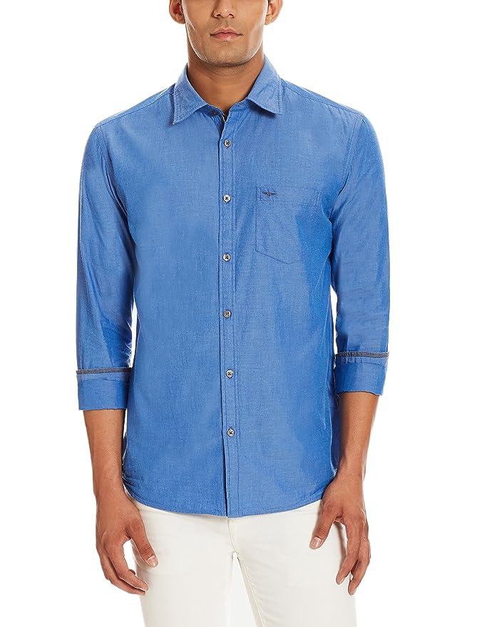 Park Avenue Men's Casual Shirt Men's Casual Shirts at amazon