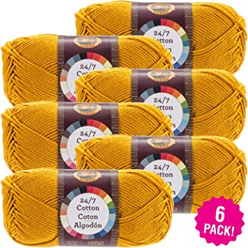 3Pk New Sealed Lion Brand 761-102 24//7 Cotton Yarn Aqua