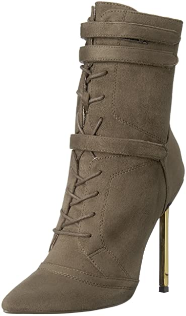 2c4b2e35be9 Luichiny Women s Fine by Me Ankle Bootie Army 7 ...