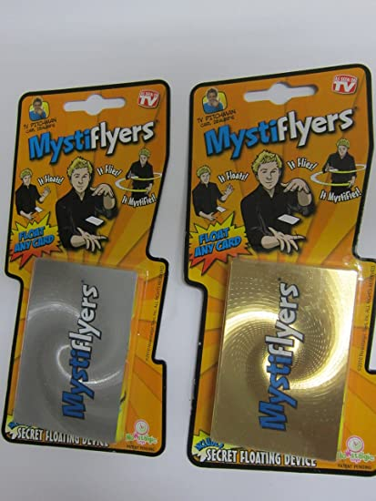 Magical Mystiflyers-2 packs-Float//Fly Any Card or Lightweight Object Nowstalgic Toys Inc.