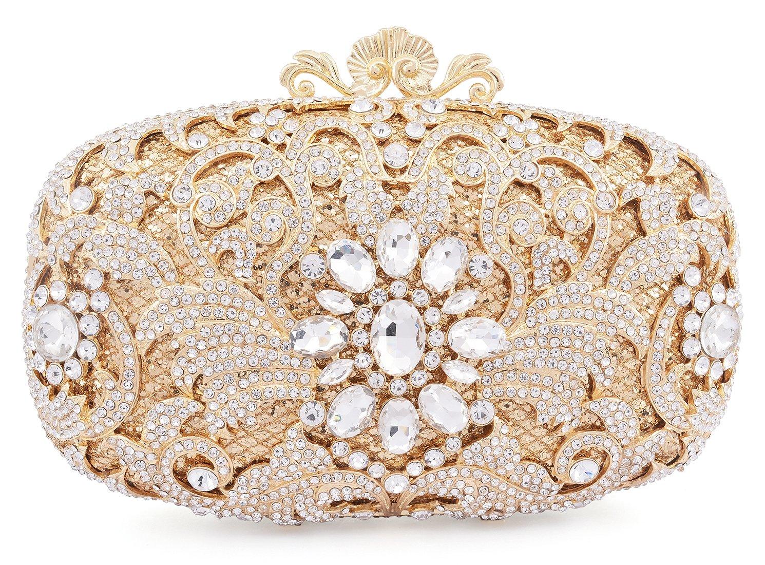 Luxury Crystal Clutch for Women Rhinestone Evening Bag