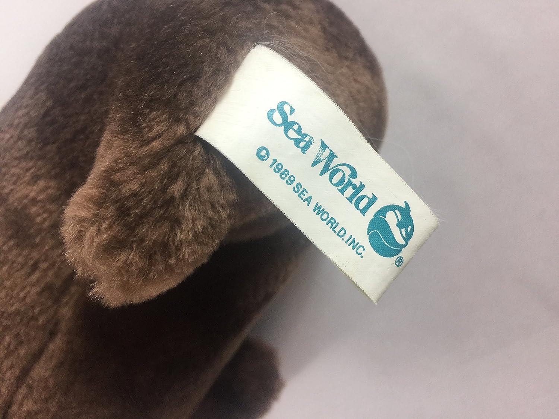Vintage 1989 Disney Sea World Walrus Pair Stuffed Animals Plush