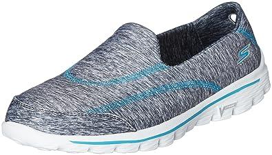15c7914914 Skechers Performance Women's Go Walk 2 360 Slip-On Walking Shoe ,Gray/Turquoise