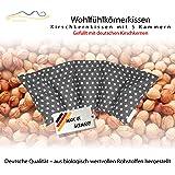 Cuscino con noccioli di ciliegia all'interno/cuscino da rilassamento per il trattamento termico – cuscino termico riscaldabile nel microonde // formato da cinque parti (grigio)