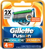 Gillette Fusion ProGlide Power - Cabezal maquinilla de afeitar para hombre, 4 unidades