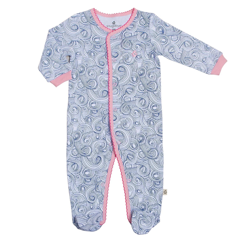 【大放出セール】 Snugabye B06ZZNNBRX Baby Piece FootieスリーGirls One Piece Footed Sleeperパジャマ寝間着 B06ZZNNBRX Snugabye Blue and Pink Swirl 6 Months, you+plus(旧店舗名Quatredeux):186d4f0d --- svecha37.ru