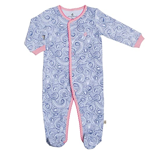 4ac15f939 Amazon.com  Snugabye Baby Footie Sleeper Girls One Piece Footed ...