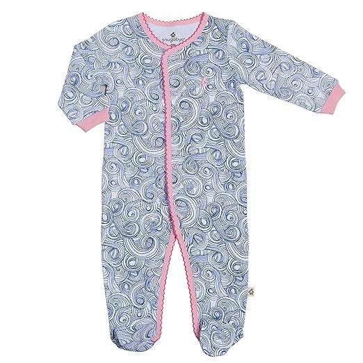 150e577c3588 Amazon.com  Snugabye Baby Footie Sleeper Girls One Piece Footed ...