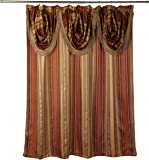 """Popular Bath Contempo Spice with Attached Valance Fabric Shower Curtain Size 72"""" Width  X  72"""" Length ( 180 cm X 180 cm )"""