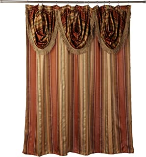 Amazon.com: Double Swag Shower Curtain With Liner Set, Burgundy ...