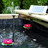 PK Green Solar Fountain Pump Submersible Pump for Small Pond, Garden, Water Feature, Bird Bath 2w Panel 70 cm Height