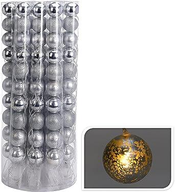 Lichterkette Silber Kugeln Led Warmweiss Kugellichterkette Leds