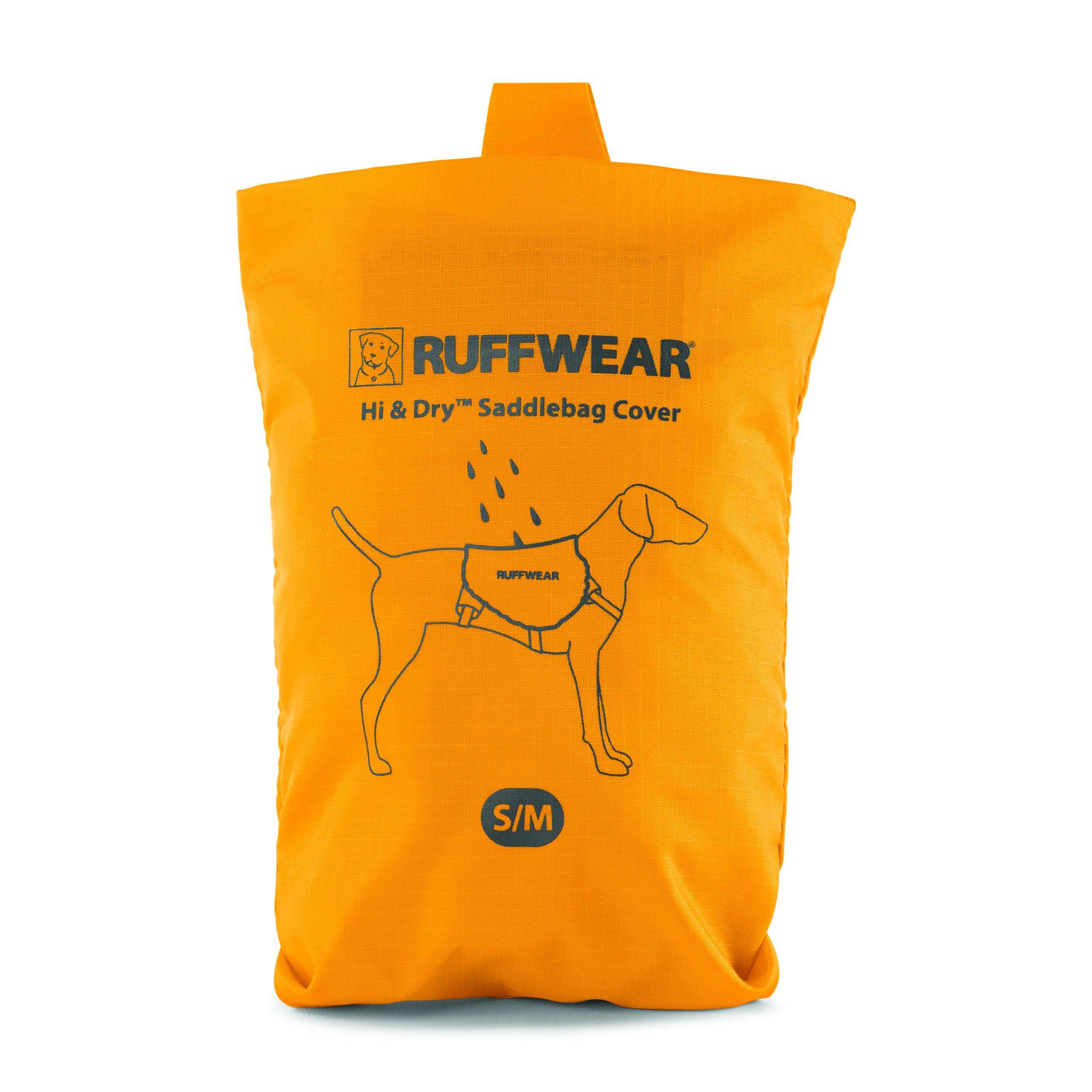 RUFFWEAR - Hi & Dry Saddlebag Cover, Waterproof Dog Pack Protection, Sunrise Yellow, Large/X-Large
